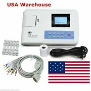 New 1- Channel 12-lead Electrocardiograph Ecg Ekg Machine Fda/ce Approved