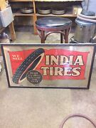 20s 30s Vintage India Tire Sign Poster