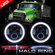 Halo Led Headlamps Headlights Low High And Drl For Mack Granite Cv713 Dump Truck