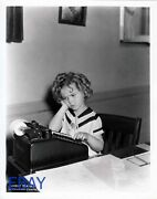 Shirley Temple At A Table Top Calculator Rare Photo