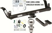 Complete Trailer Hitch Package W/ Wiring Kit For 1993-1998 Lincoln Mark Viii New