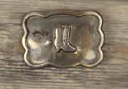 Distressed Cowboy Boots Belt Buckle Vintage Spurs Country Western Rockabilly Old