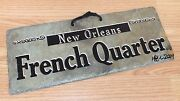 New Orleans French Quarter Hand Crafted Cut Slate For Roofing Material Sign Read