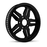 Dna Icon Gloss Black Rear Pulley 70t 1-1/8 Harley Touring Softail Dyna
