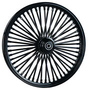 Dna Mammoth Fat 52 Black Spoke Wheels Harley 16x3.5 And 16x3.5 Heritage Deluxe