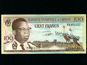 Congo Dem. Rep.p-6a,100 Fr,1962 W/ Worthless Stamp