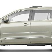 Painted Body Side Moldings With Chrome Trim Insert For Gmc Acadia 2017-2021