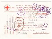 Italian P.o.w.-british India-clement Town Camp 24-red Cross Postcard