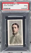 Colby Jack Coombs 1911 M116 Sporting Life Psa 9 1 Of 1 None Equal Or Higher