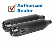 Two Brothers Racing Black Slip-on Mufflers Exhaust Pipes Harley Softail 07-2017