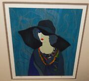 Itzchak Tarkay Sarafina Limited Edition Hand Signed Color Lithograph
