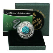 British Virgin Is Year Of The Snake 10 2013 Bimetalic Titanium And Silver Coin Bo