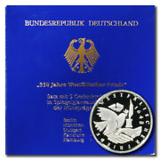 Germany 300th Ann. Peace Of Westphalia 10 Mark 1998 A-d-f-g-j 5 Proof Silver Coi