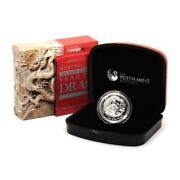 Australia Year Of The Dragon 1 2012 High Relief Proof Silver Crown Perth Mint P
