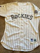 Early Career Todd Helton Game Worn/used 1999 Home Rockies Jersey
