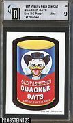 1967 Topps Wacky Packages 44 Quacker Non Die Cut Proof Card 1st Graded Gai 9