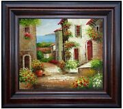 Framed Tuscany Italy - Landscape 1 Quality Hand Painted Oil Painting 20x24in