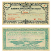 1st Nat Bank Plaza Nd Northwestern Bankers And Merchants Check Company 2 Cents