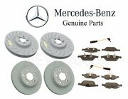 For Mercedes C207 A207 Front And Rear Disc Brake Pad Sets And Rotors And Sensors Kit