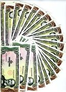Set Dominican Republic 22 X 1 Peso Oro Matching Very Low S/n 000008 Unc Rare