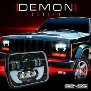 Two Demon Led Headlights Replacement For Jeep Cherokee Xj Trucks 7x6