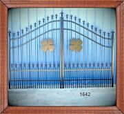 Driveway Gate Special 10and039 Or 11and039 Wd Inc Post Pkg Steel Outdoor Home Security