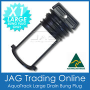 1 X Aquatrack Black Large Replacement Bung Only - Boat Drain Plug Coarse Thead