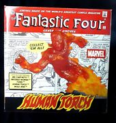 Human Torch Fantastic Four Silver Age Statue 395 Marvel Johnny Storm 2005 New