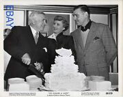 Director Clarence Brown Barbara Stanwyck Clark Gable Vintage Photo Candid On Set