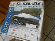 Carvertrailerable Styled To Hit Boat Cover Gray 20fts6 Poly-guard 77920p10