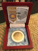Philippines 2015 500-piso Pope Francis Commemorative Coin In Wooden Box