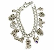 Cairn Terrier Bracelet Jewelry Silver And Gold Handmade Dog Bracelet Cnwt-xcbr