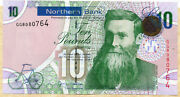 2008 Northern Bank Ltd Belfast Andpound10 Banknote Unc To Fine Real Currency Notes