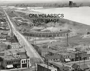 1905 Duluth Minnesota Canal Park Railroad Train Roundhouse And Harbor 8x10 Photo