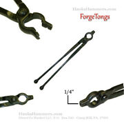 New 1/4 V-bolt Jaw Tong Blacksmithing Forge Tools 12 Reigns With Ball Ends