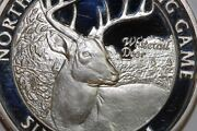 North America Big Game White Tail Deer One Troy Ounce 999 Fine Silver Num2447