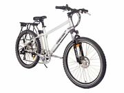 X-treme Trail Maker Elite 36v Lithium Powered Electric Mountain Bicycle, Silver