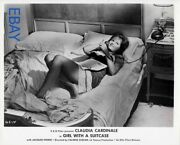 Claudia Cardinale Sexy Leggy Barefoot Vintage Photo Girl With A Suitcase
