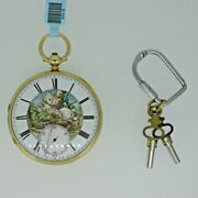 Antique 1871 Husc And Sons English Lever Fusee Chronometer 18k Gold Pocket Watch