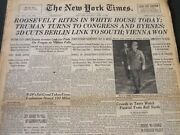 1945 April 14 New York Times - Roosevelt Rites In White House Today - Nt 5999