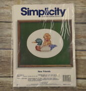 New Friends Counted Cross Stitch Pattern Kits Simplicity Duck Decoy Puppy Dog