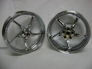 03-04 06-09 Yamaha Yzfr6s R6s R6 Chrome Front And Rear Wheel Set