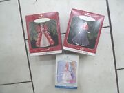 Lot 3 Holiday Barbie Ornament Hallmark 1998 Error And1997 Holiday And Little Bo Peep