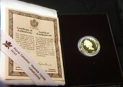 Canada 1991 One Hundred Dollars Gold Coin Proof Empress Of India Ogp