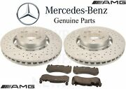 For Mercedes W212 S212 W218 Amg Front Brake Pad Set And 2 Disc Rotors Kit Genuine
