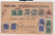 Marienwerder 5pfg/10pfg With Inverted Surcharges On Cover Michel 15k And 16k