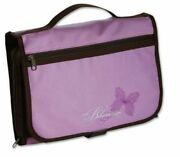 Designer Tri-fold Cover Lavender/chocolate Large Bible Cover By Zondervan New