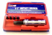 Grip Tools 1/2 Metal Body Impact Driver Screwdriver W/case And Screw Bits 62040