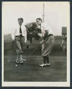 1929 Denny Shute And Fritz Marzolf Golf Pros Photo By Herman Seid