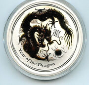 2012 Year Of The Dragon Perth Mint Gold Gilted Silver .999 Coin W/coa And Box